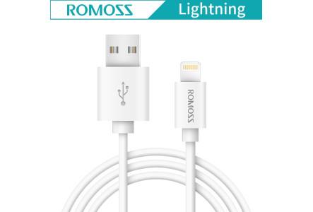 Кабель Romoss Lightning CB12 круглый белый