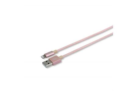Кабель Romoss Lightning CB12n плетеный розовый