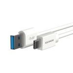 Кабель Romoss USB 3.0 Type-C CB31 круглый белый